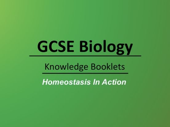 Homeostasis In Action Knowledge Booklet