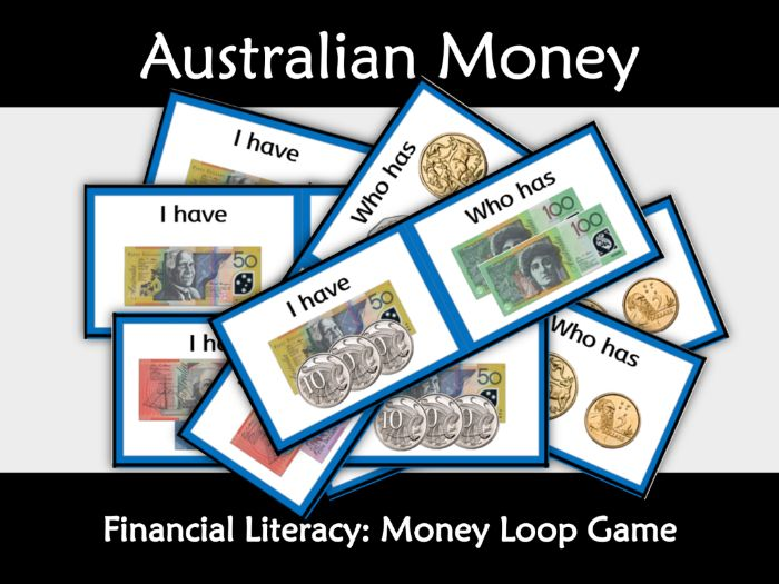 Australian Financial Math: Money Loop game