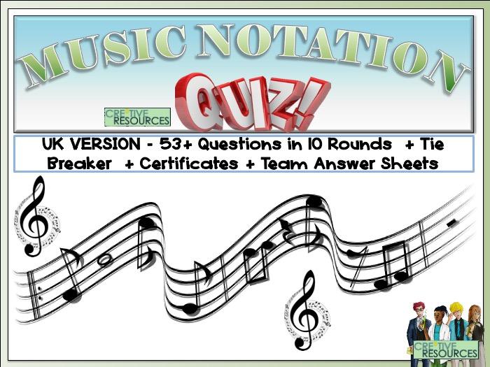 Musical Notation Quiz - UK