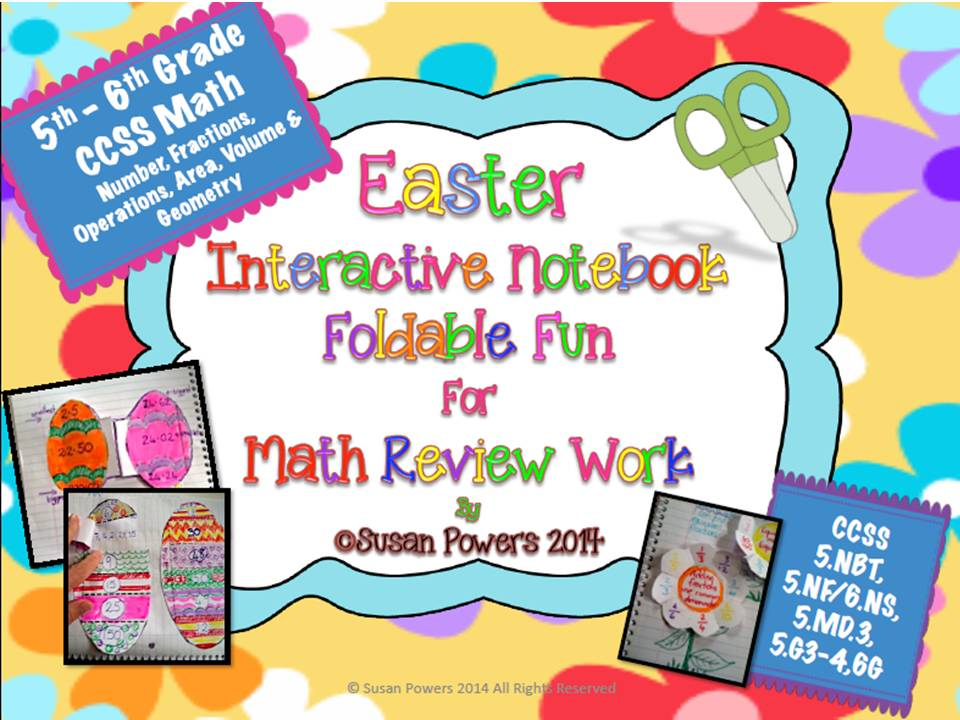 Easter Interactive Math Notebook Activities