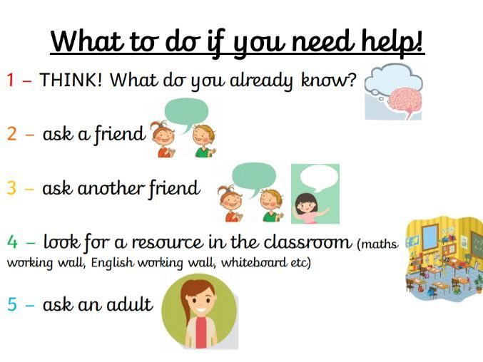What to do if you need help (poster)