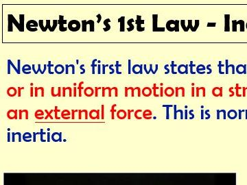 Newtons Laws Inertia. Lesson with worksheets, objectives, practicals.