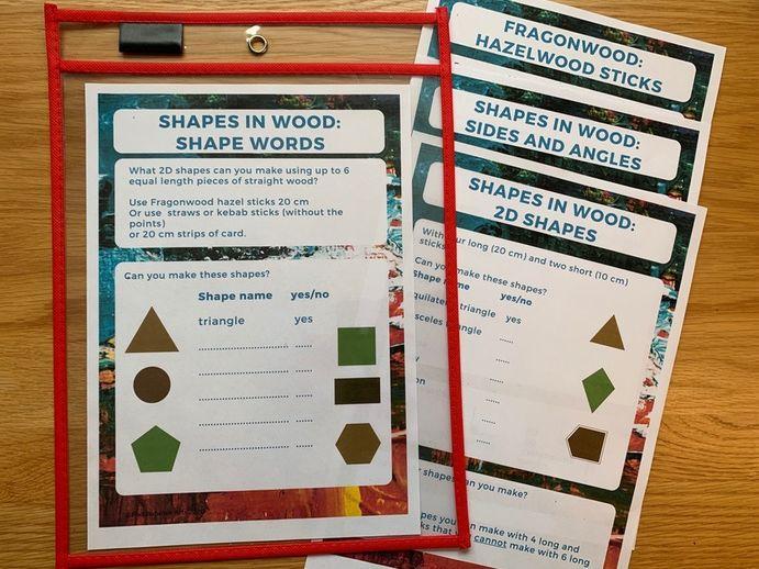 KS2 Outdoor maths activities Fragonwood Shapes