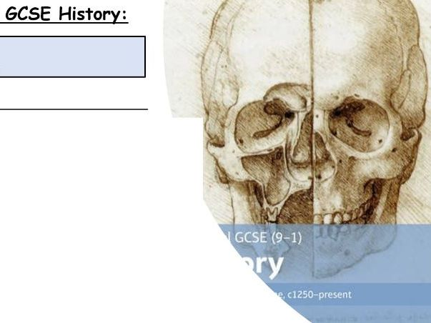 GCSE History 9-1 Medicine Section B Lessons