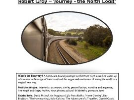 Close reading notes - analysis of Robert Gray, 'Journey - the North Coast'