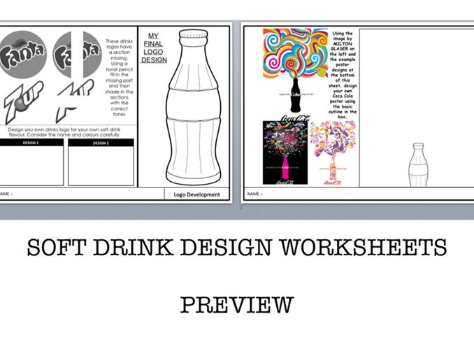 Graphics Worksheets - Soft Drink Design