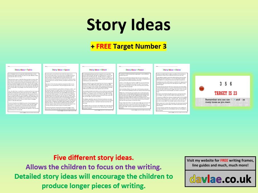 Story Ideas for Upper KS2 (+ FREE TARGET NUMBER 3)