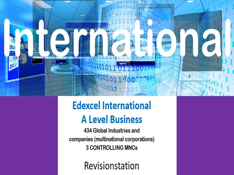 Pearson Edexcel International A Level Business (434) 3 Controlling MNCs