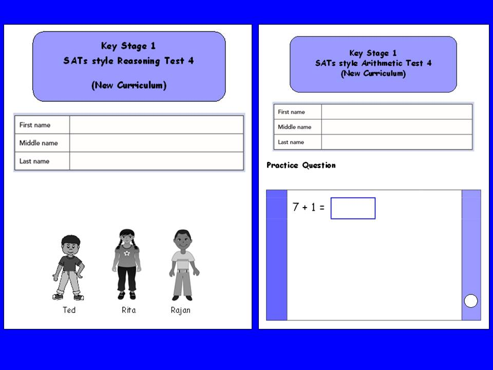 KS1, Year 2, SATs style maths assessment booklets for reasoning and arithmetic