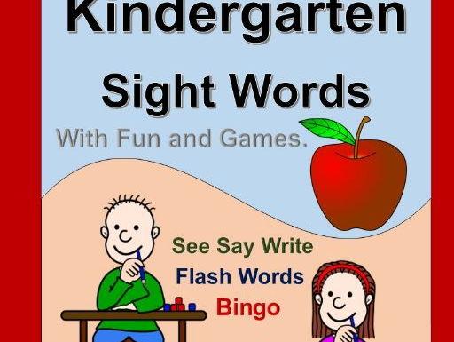 Kindergarten Sight Words Fun and Games