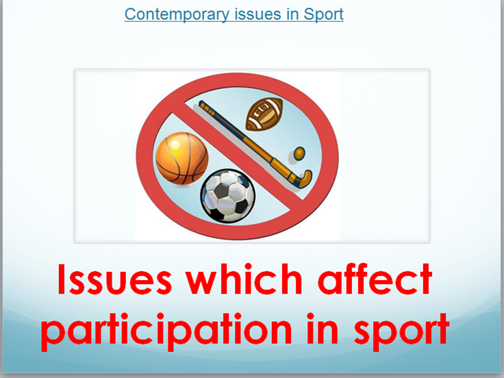 RO51 Cambridge Nationals Sports Studies-Lesson 1  Barriers to participation lesson & Learning Mat