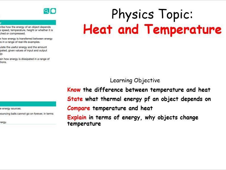 KS3 - Heat and Temperature