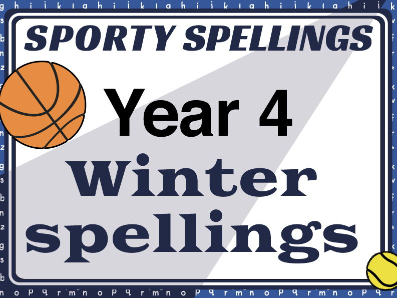 Year 4 Winter Spellings: Sporty Spellings
