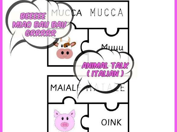 ITALIAN ANIMAL TALK PUZZLE