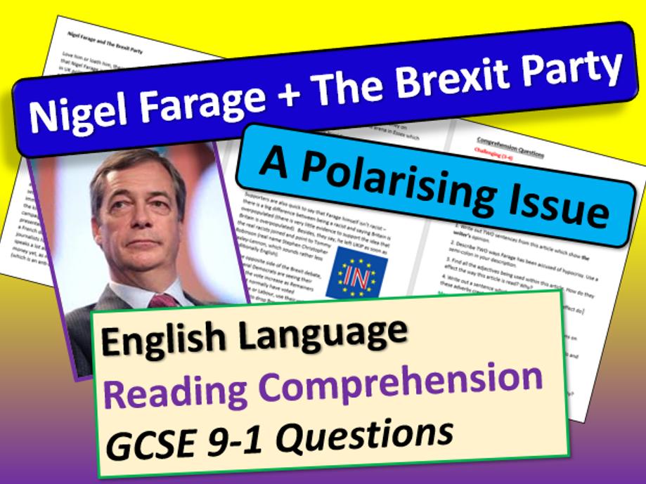 Nigel Farage Comprehension - General Election 2019
