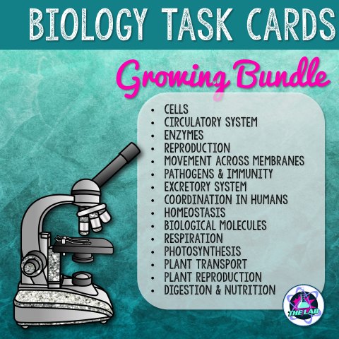 Biology Task Card Growing Bundle