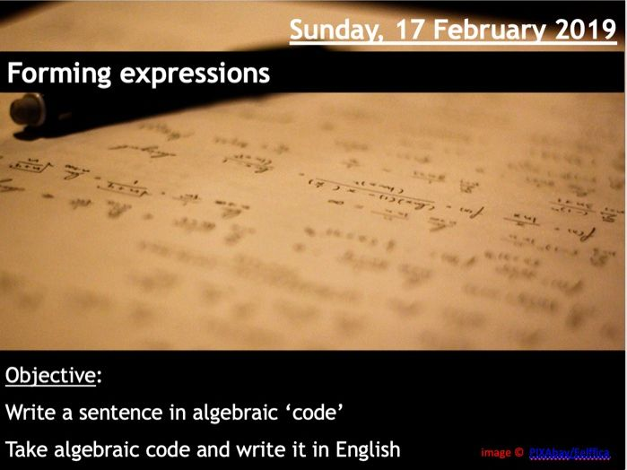 Forming (writing) Expressions