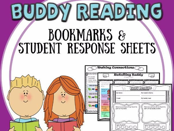 Buddy Reading Bookmarks & Reader Response Sheets
