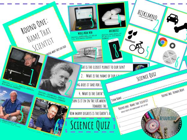 End of Term Science/STEM Quiz KS3