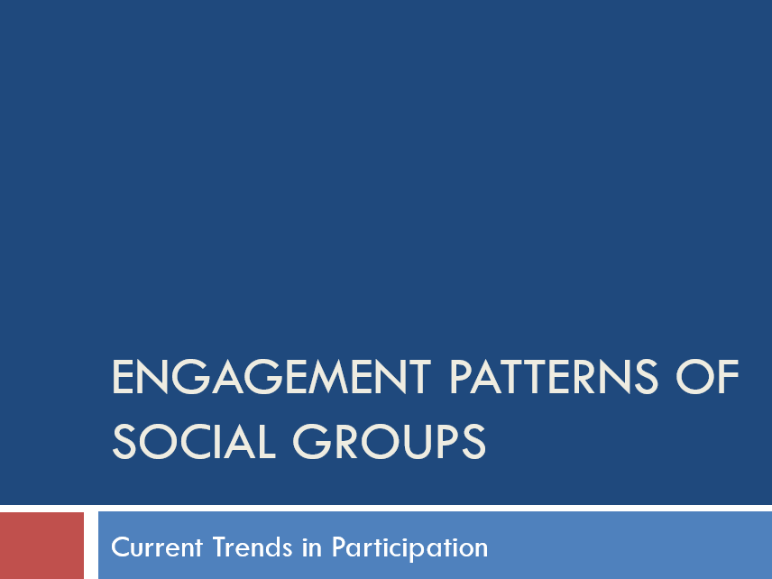 Engagement Patterns of Social Groups and Participation Rates GCSE PE