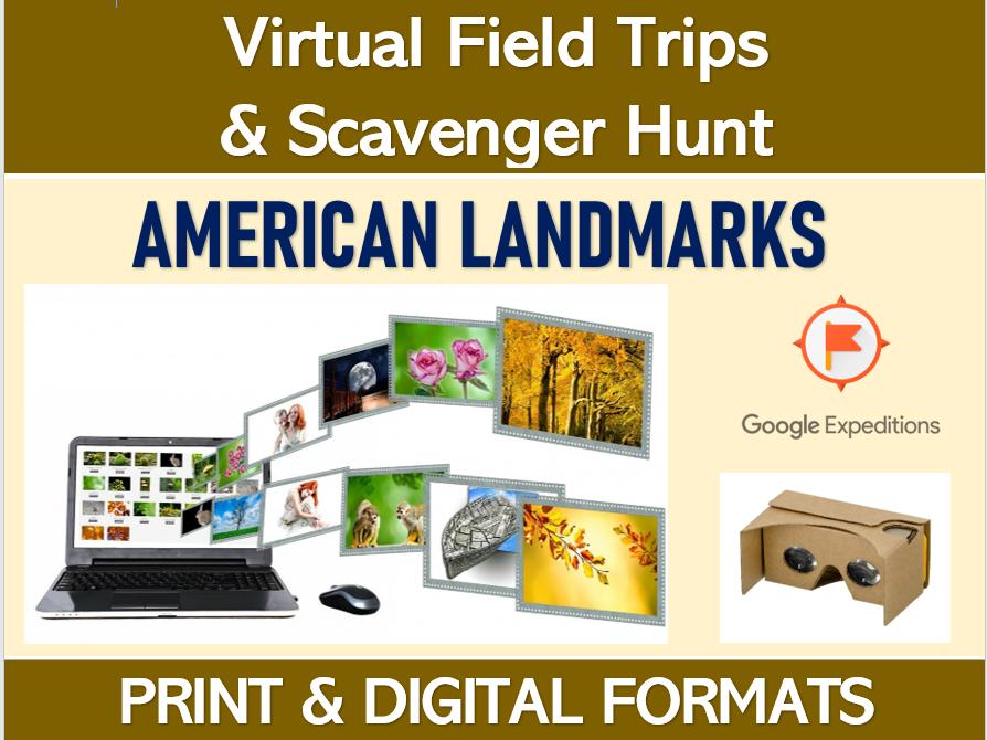 AMERICAN LANDMARKS (Google Expeditions): Virtual Field Trip & Scavenger Hunt