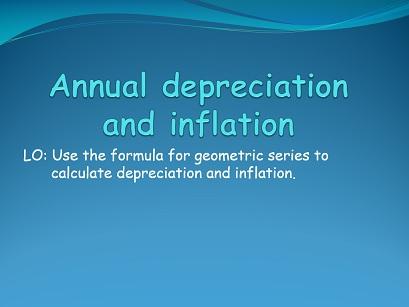 IB Applications and interpretations - Annual depreciation and inflation