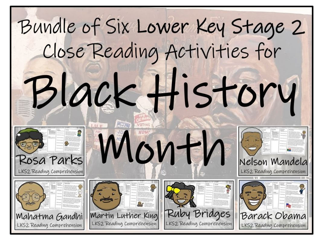 LKS2 History - Black History Month Bundle of Reading Comprehensions
