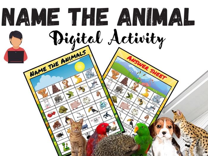 Digital Animal Guessing Activity