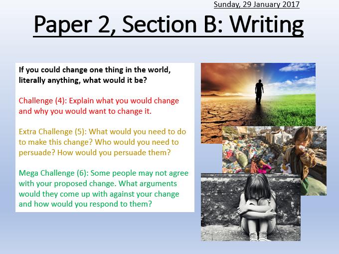 AQA Paper 2: Section B Speech Writing