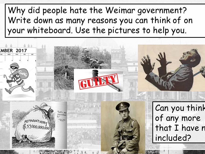 REVISION Treaty of Versailles and Weimar (Edexcel 9-1 Weimar and Nazi Germany)