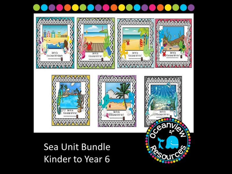 Kindergarten to year 6  Sea Themed Bundle