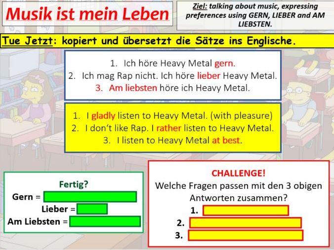 COMPLETE STIMMT HIGHER - module 2 unit 2 - MUSIK IST MEIN LEBEN