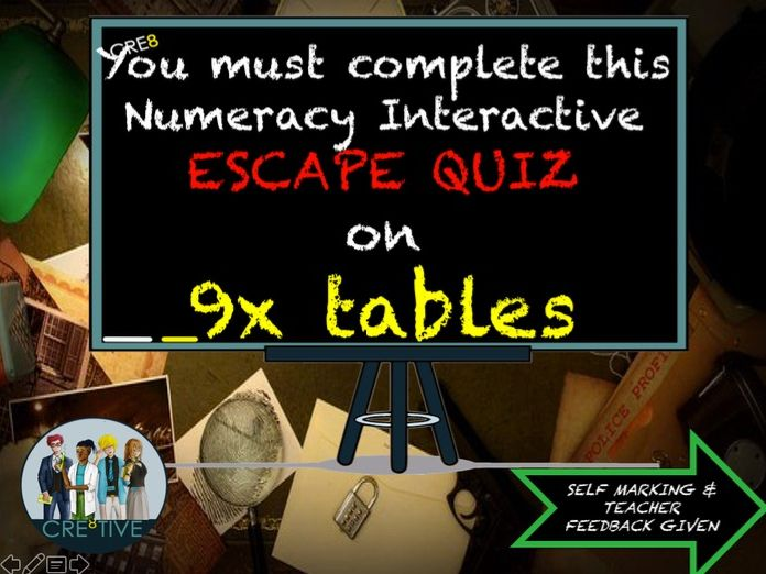 Multiplication Maths End of Term Quiz 9