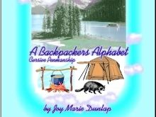 """A Backpacker's Alphabet"" Cursive Penmanship"