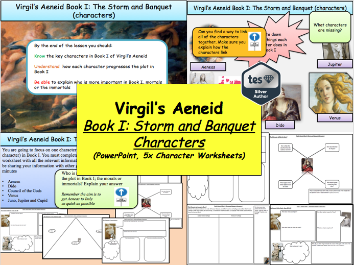 Virgil's Aeneid Book I: Storm and Banquet (characters) [New OCR A-Level: 'The World of the Hero']