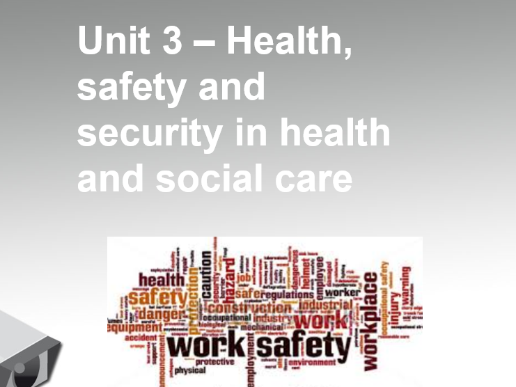 Cambridge Technical 2016 Unit 3 health, safety and security EXAM