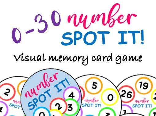 SPOT IT!  0-30 Number Matching Visual Memory Card Game