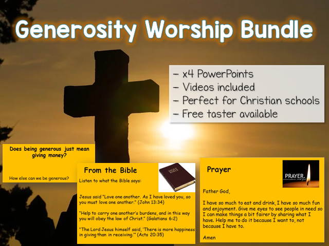 Generosity Worship Bundle KS1/KS2