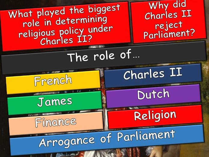 A-Level History:  Britain, 1625-1701 - Political & Religious Change (units 1&2)