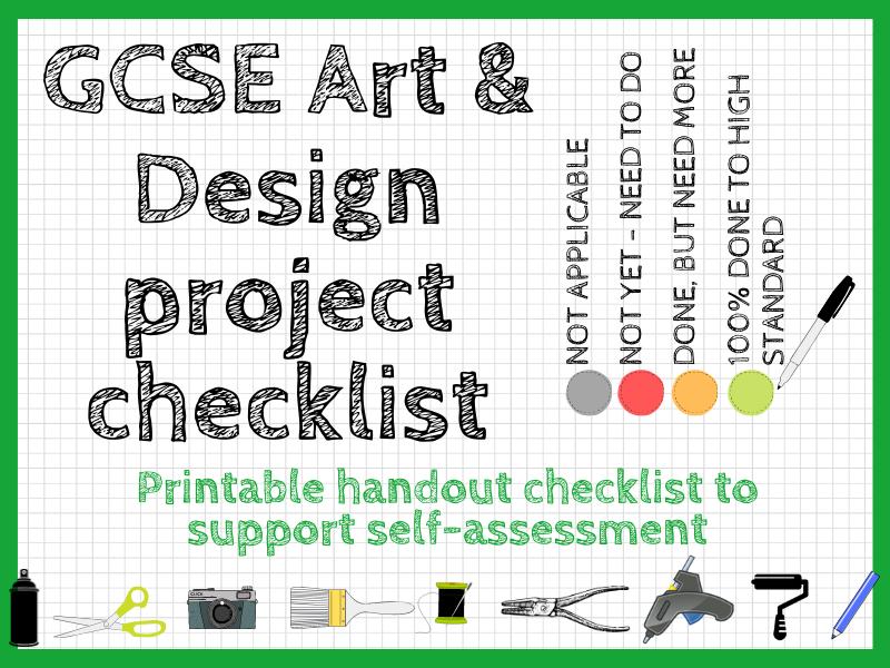 GCSE Art and Design project checklist: printable handout