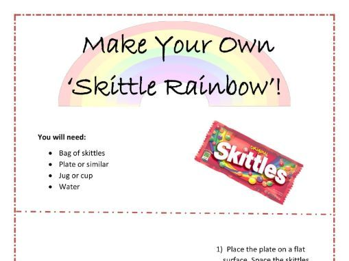 Skittle Diffusion Activity - science at home