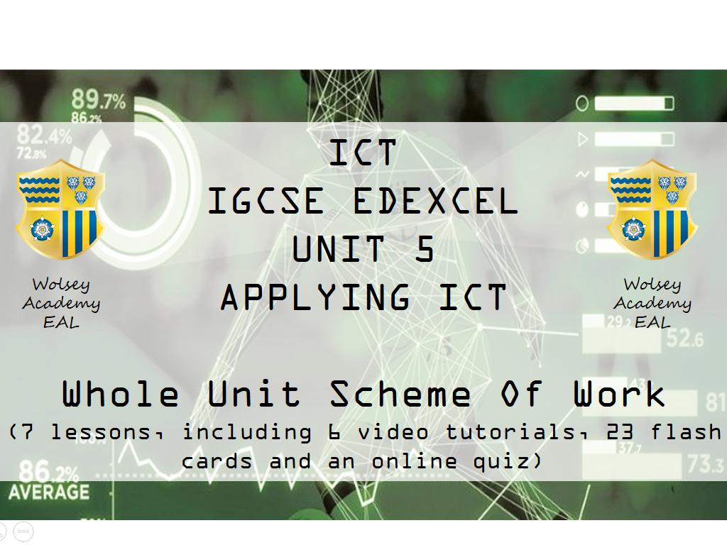 IGCSE ICT - UNIT 5 - COMPLETE