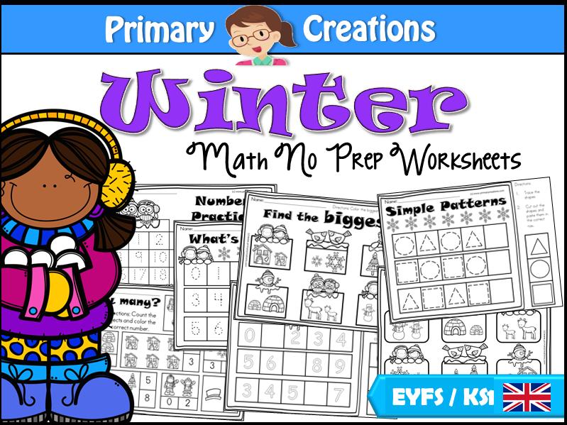 Winter Maths Activities for PreK (UK Edition)