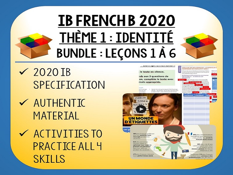 IB FRENCH B 2020 - Identité - 6 lessons pack