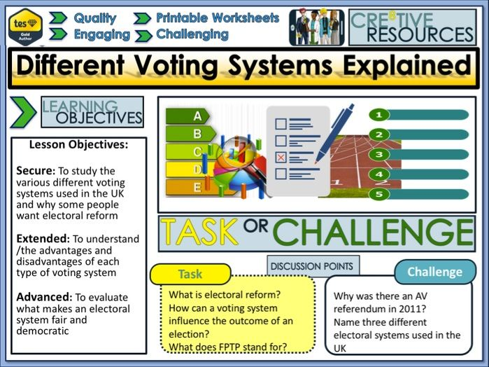 Different Voting Systems explained