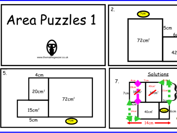 Area Puzzles 1 - Powerpoint Version