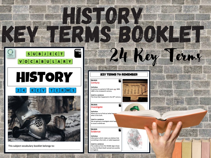 History SEN Key Terms Booklet