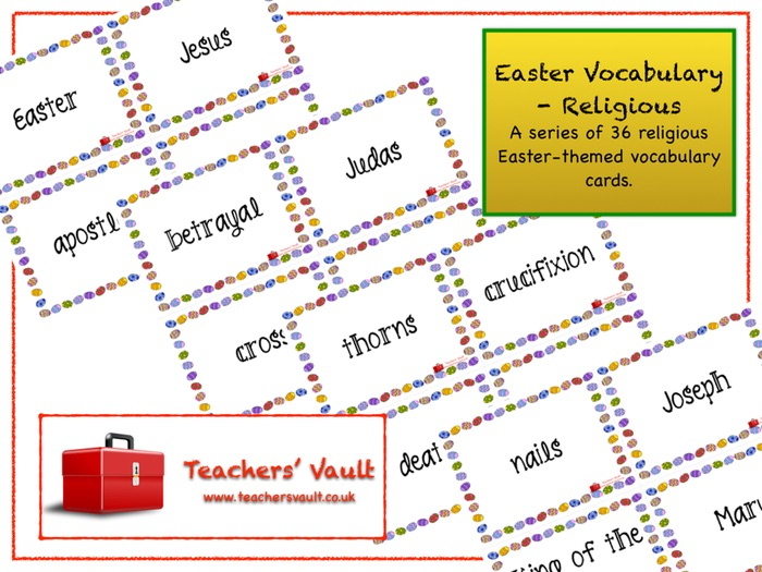 Easter Vocabulary - Religious