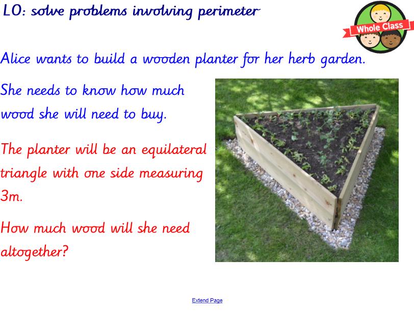 Year 3 Perimeter Problem Solving
