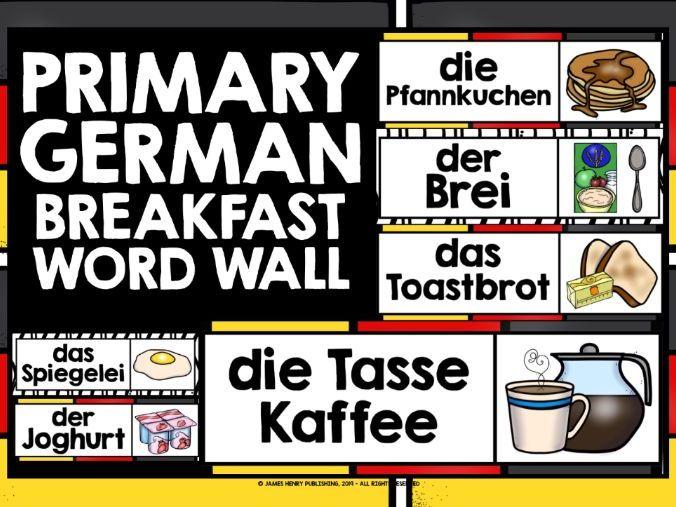 PRIMARY GERMAN BREAKFAST WORD WALL